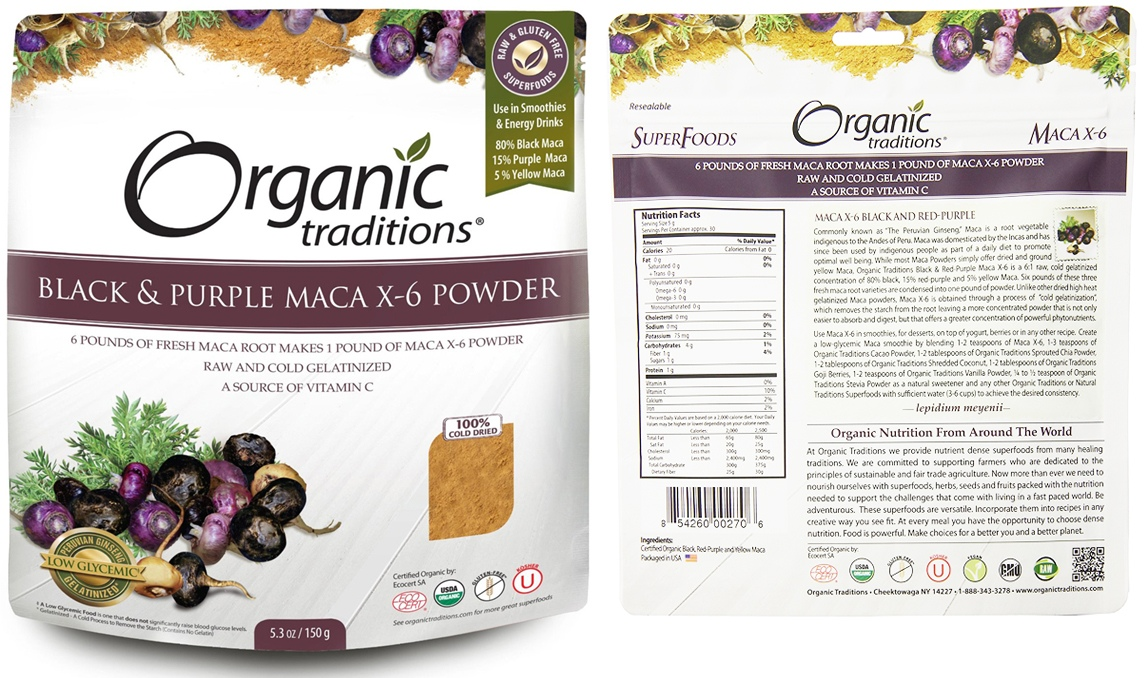 Organic Maca Root Powder package