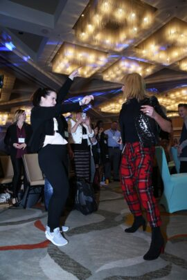 Terra-Dancing at Marketing Impact Live with Chalene Johnson.