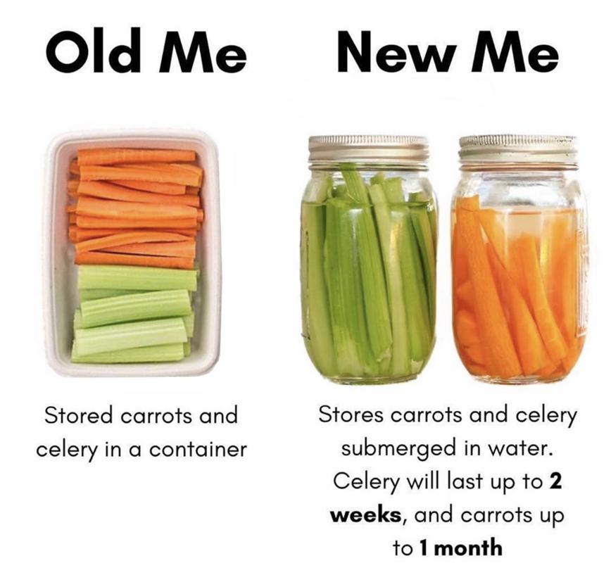 Storing Prepped Vegetables